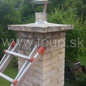 komínová strieška - frézovanie vložkovanie komína