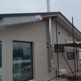 nový nerezový komín pre rodinný dom