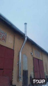 nový nerezový trojvrstvový komín pre garáž