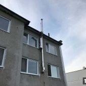 trojvrstvový nerezový komín pre bytový dom